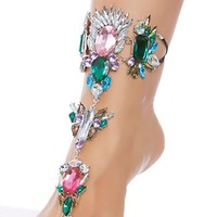 Rhinestone Foot Jewels Rave Wear