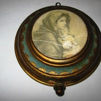 Reuge Swiss Florentine Ave Maria Music Box Madonna Child Picture