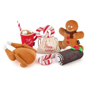 Holiday Classics Dog Plush Toy Set