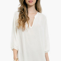 Flying V Shift Blouse $33