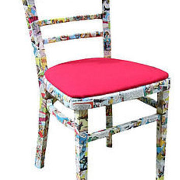 reclaimed comic decoupage chair by bombus | notonthehighstreet.com