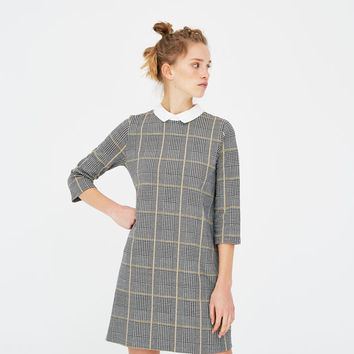 Dress with shirt collar - pull&bear