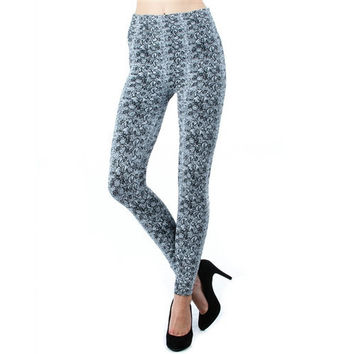 Print Fleece Leggings
