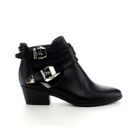 Reneeze BEAUTY-04 Womens Buckled Cut Out side design Booties - BROWN