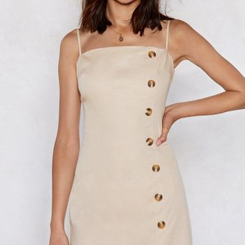Get Button With It Mini Dress