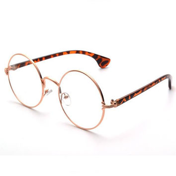 Shop Round Metal Frame Glasses on Wanelo