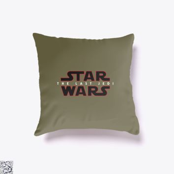 Last Jedi Rey, Star Wars Throw Pillow Cover