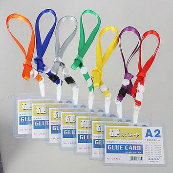 New Custom Lanyard ID(A2) Badge Card Key Holder Ring Case Pocket Neck Strap CB