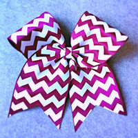 Burgundy Chevron Cheer Bow