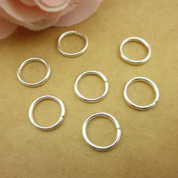 100pcs 10mm  Open Jump Ring Silver Plated O Rings