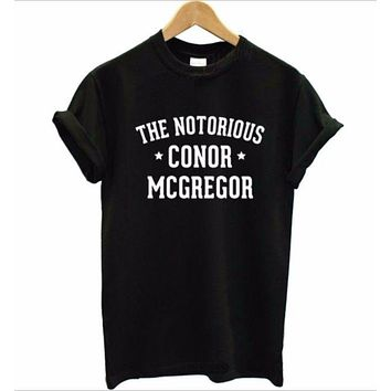 DCCKJ1A [The Notorious Conor McGregor] fashion men and women cotton short-sleeved T-shirt