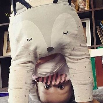 High quality new kids clothing boys girls harem pants cotton lovely fox long trousers baby pants summer children PP pant