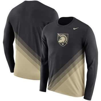 Army Black Knights Nike 2017 2nd Season Sideline Gradient Dri-FIT Legend Long Sleeve T-Shirt - Black