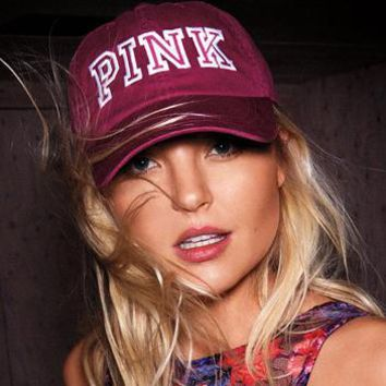 VICTORIA¡¯S SECRET PINK Leisure sports baseball cap embroidery Hat Visor duckbill peaked cap