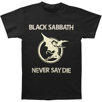 Black Sabbath Men's  Never Say Die T-shirt White Rockabilia