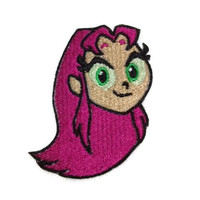 Iron on Teen Titans Starfire embroidered patch by ThatsWhatINeeded
