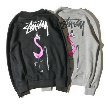 ESBON Stussy Women Man Fashion Casual Print Top Sweater Pullover