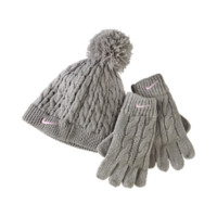 Nike Cable Knit Preschool Hat And Gloves Set Size ONE SIZE (Brown)