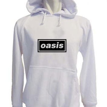 oasis Hoodie Sweatshirt Sweater white variant color for Unisex size