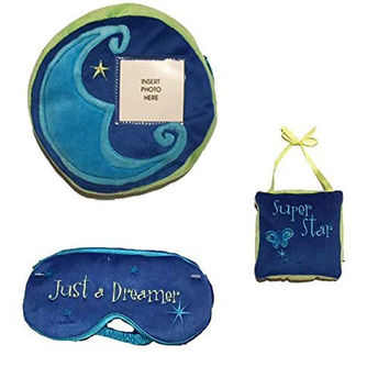 AGS Girls Blue Pillow Eyemask Door Hanger 3 Pc Sleep Set