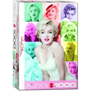 Marilyn Monroe - Color Portraits - 1000 Piece Jigsaw Puzzle