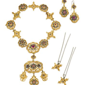Victorian Gold, Ruby and Diamond Suite - Recent Acquisitions | M.S. Rau Antiques