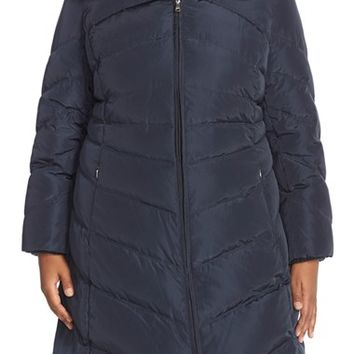 Plus Size Women's Jessica Simpson Knit Detail Quilted Coat,