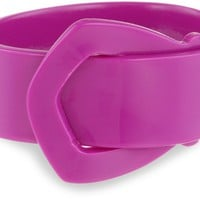 "Bellissima Jewelry ""Color Block"" Magenta Buckle Cuff Bracelet"
