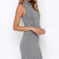 Speck of Truth Grey Sweater Dress