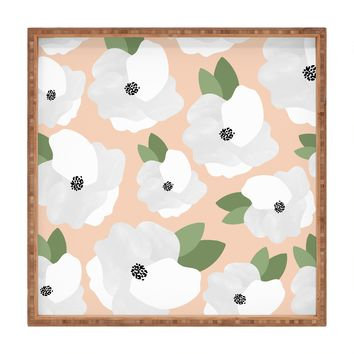 Allyson Johnson Romantic Floral Square Tray