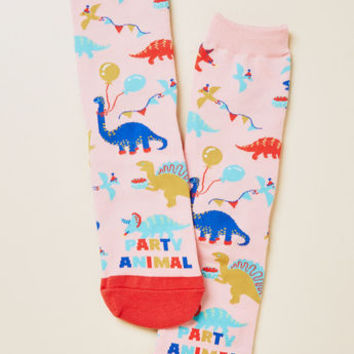 Party Animal Dinosaur Socks