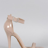 Women's Anne Michelle Patent Open Toe Heel