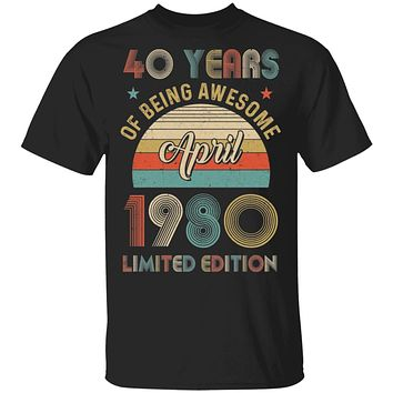 Vintage April 1980 Limited Edition 40th Birthday Gifts