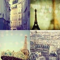 Paris Photo Set City of Love Four 5x5 Fine Art by irenesuchocki