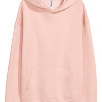 Oversized hooded top - Light pink - Ladies | H&M CA