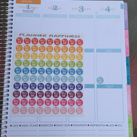 UPDATED Bill Due Mini Icon Stickers | Erin Condren | InkWell Press | Passion Planner