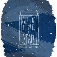 """""""All Of Time And Space"""" - Art Print by Nan Lawson"""