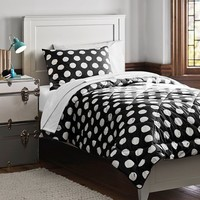 Dot Chic Deluxe Bedding Set, Black