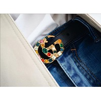 "Hot Sale ""Gucci"" Trending Women Stylish Belt Multicolor Diamond Belt Multicolor Agate Black I/A"