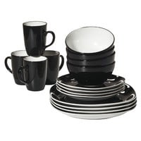 Duo Quadro 16-pc. Dinnerware Set - Black