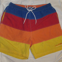 Vintage 90's Tommy Hilfigers Multi Color Swimming Shorts Size M