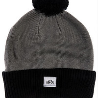 The Single Wheel Beanie in Gray and Black