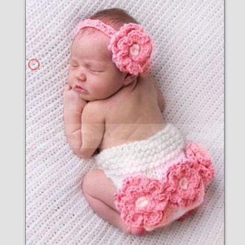 Newborn Baby Infant Knit Sweater Crochet Photography Prop 0-6M B-1-N2 (Color: Pink) = 1958405252