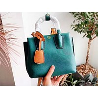 MCM fashion hot selling lady plain color simple shoulder bag shopping bag Green