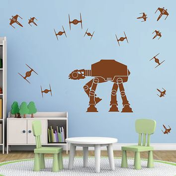 ik2727 Wall Decal Sticker Star Wars space ships nursery teenager