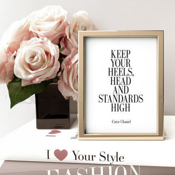 Inspirational Gift,Coco Chanel Poster,Quote Prints,Fashion Quotes,Tumblr Room Decor,Fashion Wall Art,Chanel Quote,Chanel Inspired,WALL ART