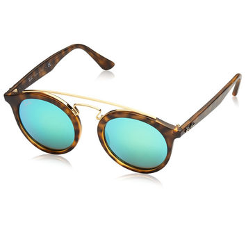 Tortoise Gold Frame Sunglasses by Ray-Ban