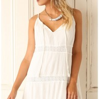 Day dresses > WHITE LACE DAY DRESS