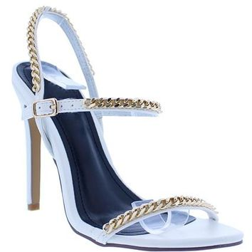 Chain Reaction Heels - White