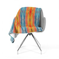 "Nika Martinez ""Boho Tie Dye"" Teal Orange Fleece Throw Blanket"